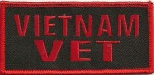 "VIETNAM VETMilitary Patch2"" x 4""FREE SHIPPING - Product Image"
