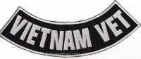 "VIETNAM VET Lower Rocker  Motorcycle Military Patch   2 Color Choices  11"" X 3""  FREE SHIPPING - Product Image"