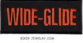 "WIDE-GLIDE  Motorcycle Biker Patch  1 3/4"" x 4""  FREE SHIPPING - Product Image"