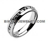 Wedding Band Stainless Steel Chain Ring  Sizes 5-13  FREE SHIPPING - Product Image