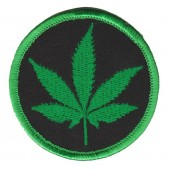 "Weed LeafBiker Patch2 1/2 "" x 2 1/2 ""FREE SHIPPING - Product Image"