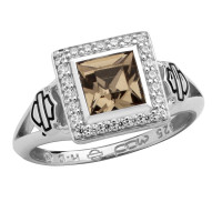 Women's Harley-Davidson ® Sterling Silver Black Ice Ring Mod Jewelry®  Sizes 5-9HDR0362 - Product Image