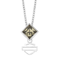 Women's Harley Davidson ® Black Ice Pendant by Mod Jewelry® Sterling SilverHDN0311 - Product Image