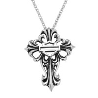 Women's  Harley Davidson ®  Cross Pendant  By Mod  Sterling SilverHDN0256 - Product Image