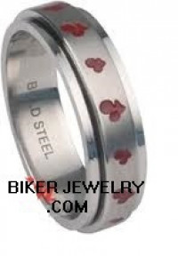 Women's  Spinner Ring  With Cherries  Sizes 5-10  FREE SHIPPING - Product Image