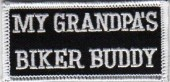 "My Grandpa's Biker Buddy Biker Patch2"" x 3 1/2""FREE SHIPPING - Product Image"