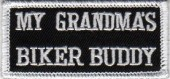 "My Grandma's Biker Buddy Biker Patch2"" x 3 1/2""FREE SHIPPING - Product Image"